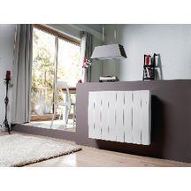 radiateur acier d cor lectrique galapagos pilotage intelligent connect horizontal 1500 w blanc. Black Bedroom Furniture Sets. Home Design Ideas