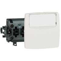 Poussoir porte-étiquette - 6 A - blanc - Ref.086109