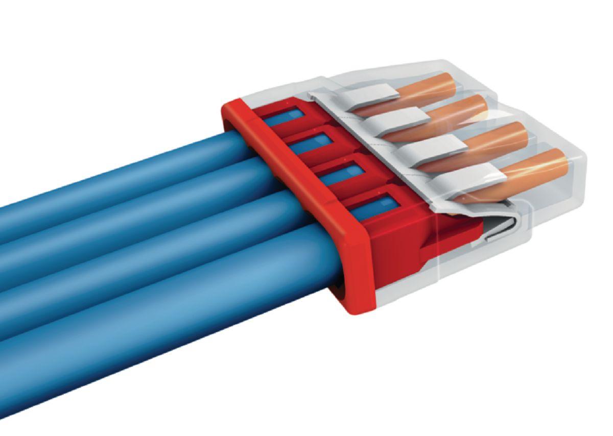 Borne de dérivation gris section 8x0.5-2.5mm² boîte de 50 Réf 2273-208