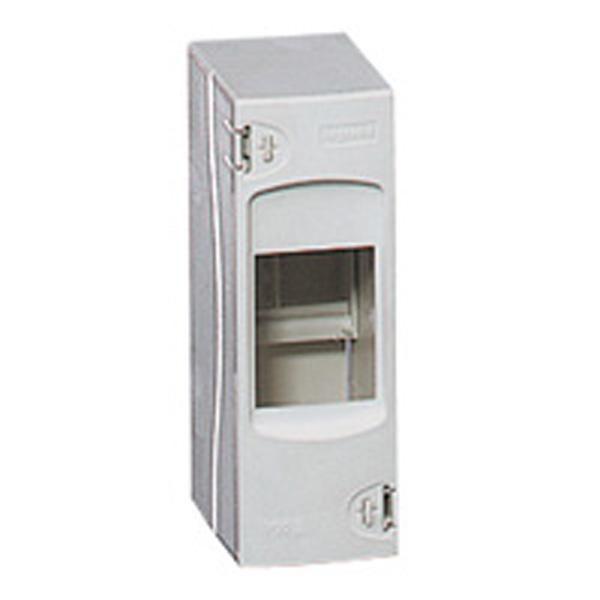 Coffret cache-bornes - 2 modules - blanc RAL 9010 - Ref.001302