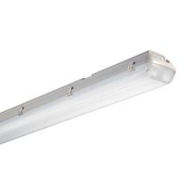 Plafonnier étanche pour tube fluorescent Start Waterproof PC 258 EB - 2x58 W - 83x91 mm - L. 1565 mm
