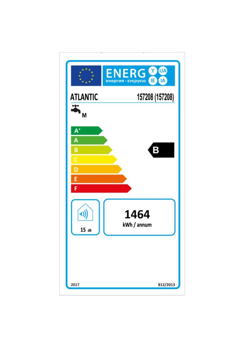 Chauffe-eau électrique à résistance stéatite Lineo connecté multi-position blanc 80 l Réf 157208