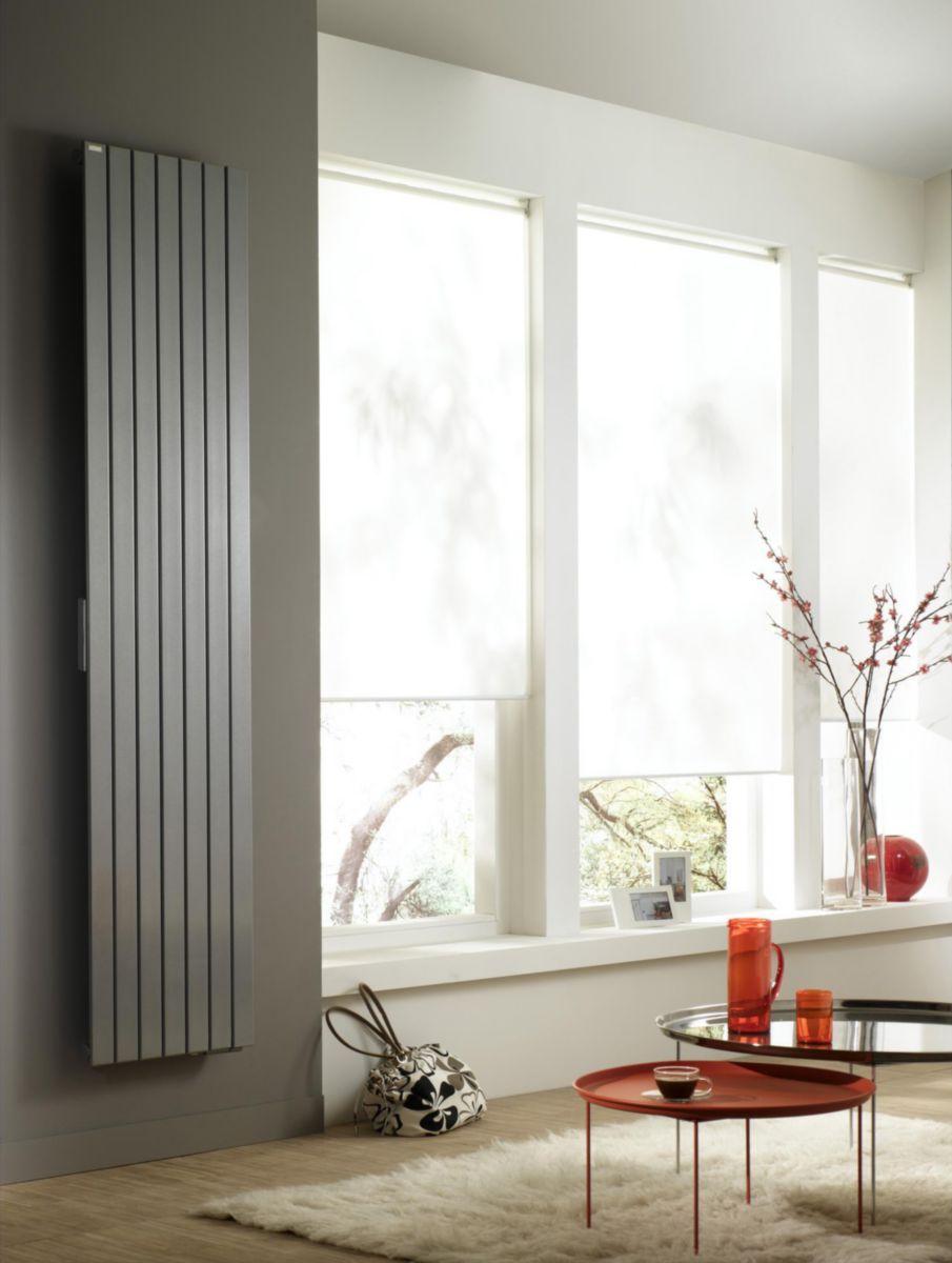 Radiateur FASSANE PREMIUM DIGITAL électrique vertical 1250 w haut 2017 largeur 523 4 éléments blanc réf. THXP-125-200LF