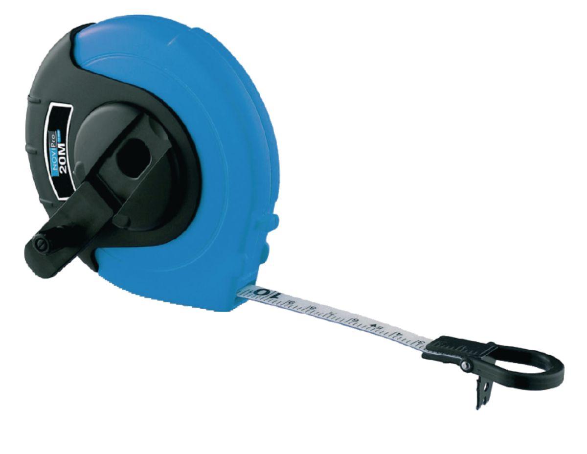 Mesure longue fibre de verre bleu noir NOVIPro 20m x 13mm