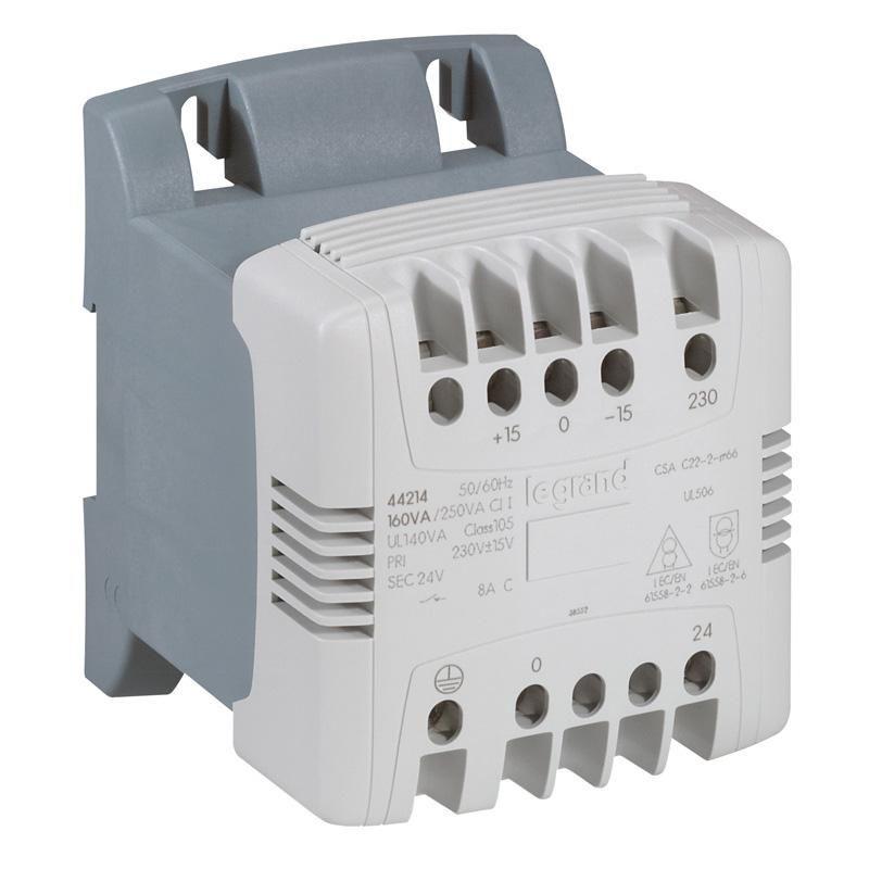 Transfo cde et signal mono bornes à vis - prim 230 V/sec 24 V - 40 VA - Ref.044211