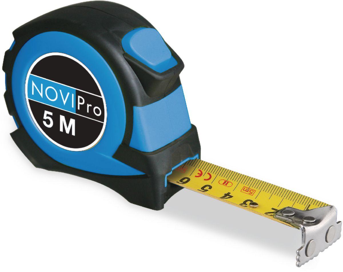 Mesure roulante corps ABS 5MX19MM protection caoutchouc blocage automatique du ruban NOVIPro 5mx19mm