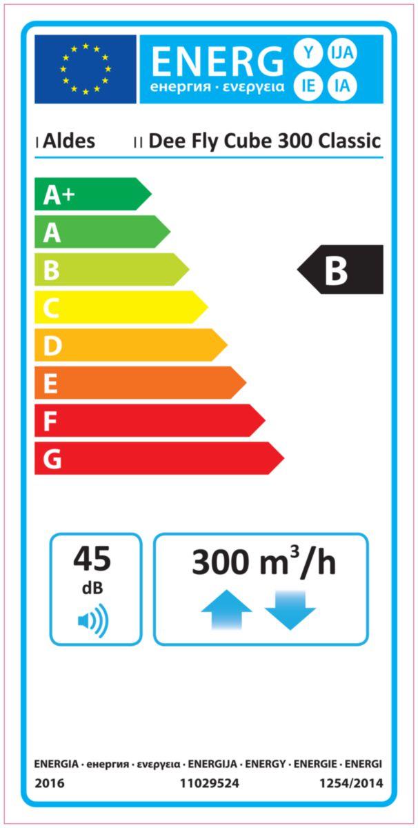 DEE FLY CUBE + IHM Classe énergétique B Réf. 11023235