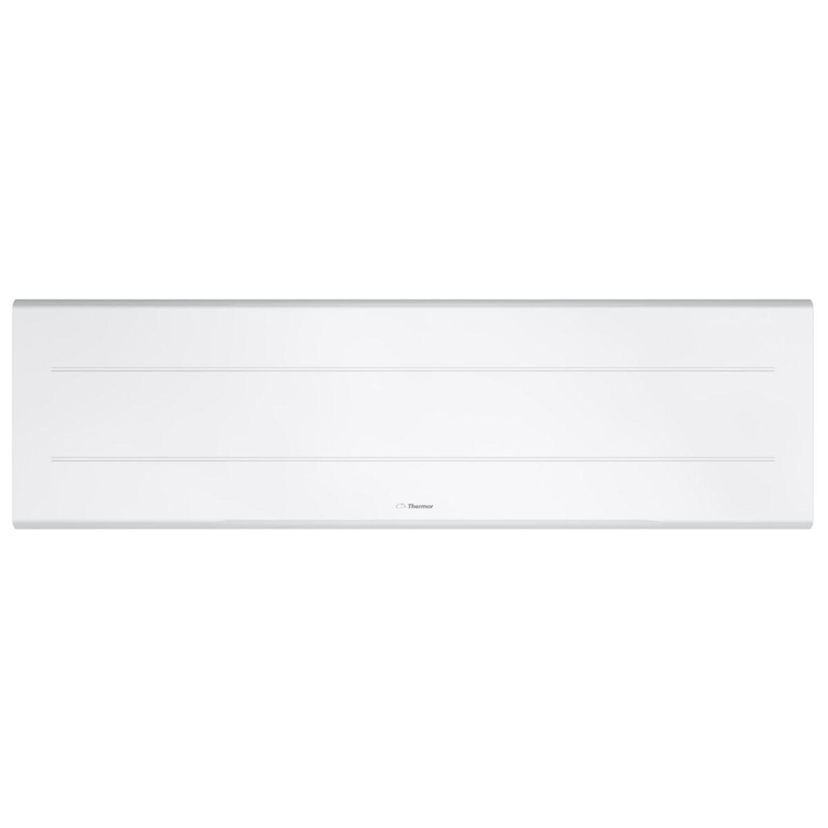 Radiateur acier décor électrique Ovation 3 plinthe blanc 1500 W Réf 450351