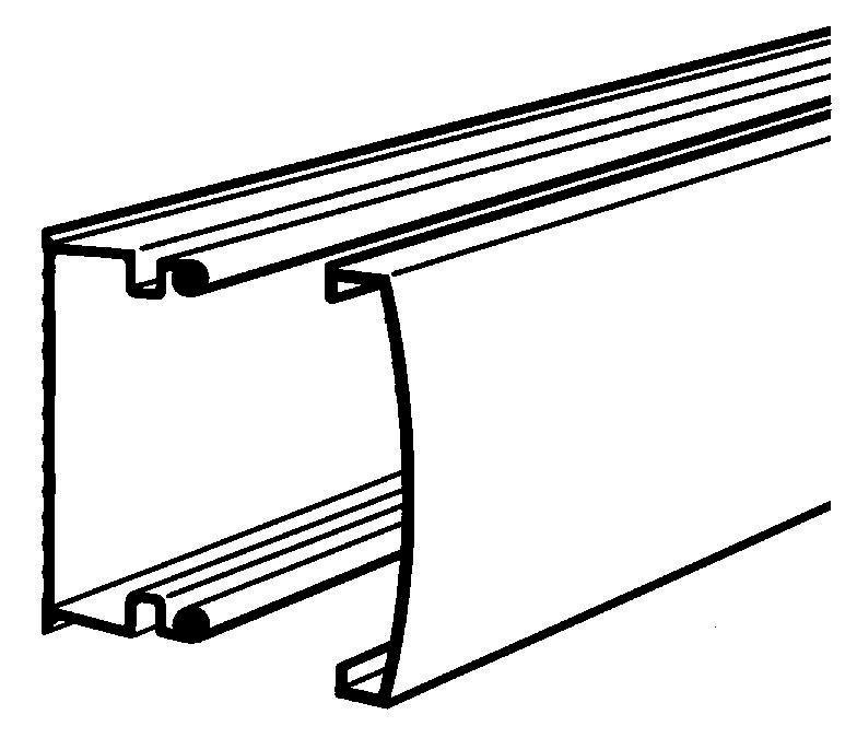 Moulure Keva 22x12 - 1 compartiment - 2,10 m - Brun - Réf.11870