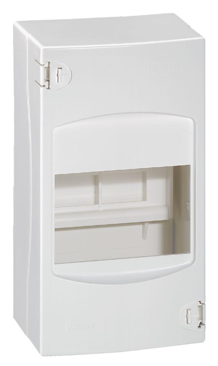 Coffret cache-bornes - 4 modules - blanc RAL 9010 - Ref.001304
