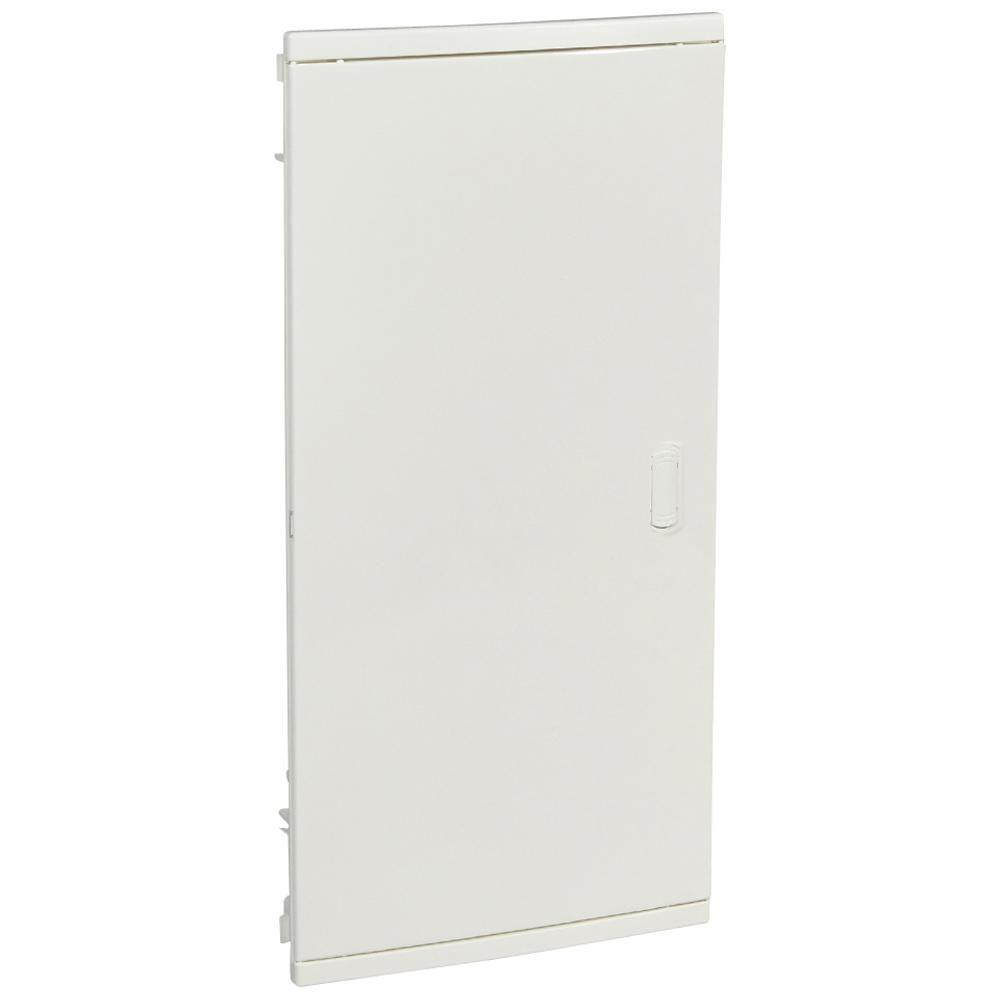 Coffret encastré - porte isolante galbée - 4 rangée - 48+8 mod - blanc RAL 9010 - Ref.001514