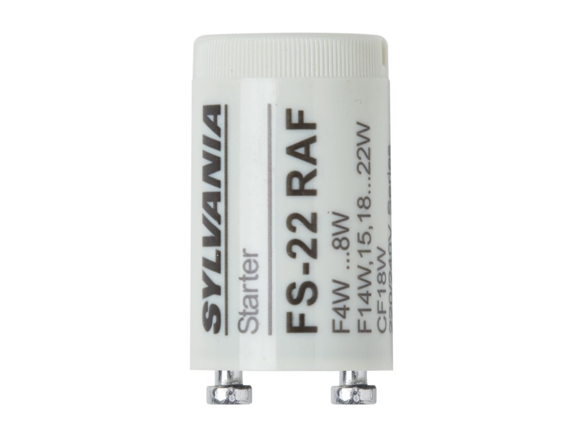 Starter pour tube fluorescent T8 FS-22 - mono/duo - 4-22 W