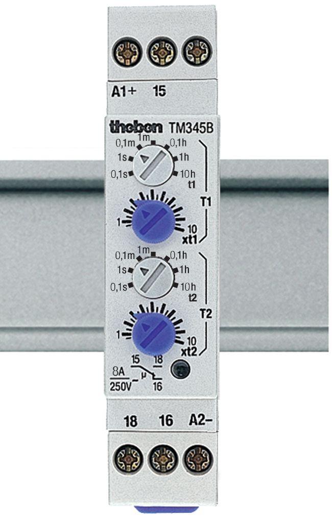 Relais tempo clignoteur temporisation de 0,1sec a 10h 24 240 v ac cc tm 345 b 3450730