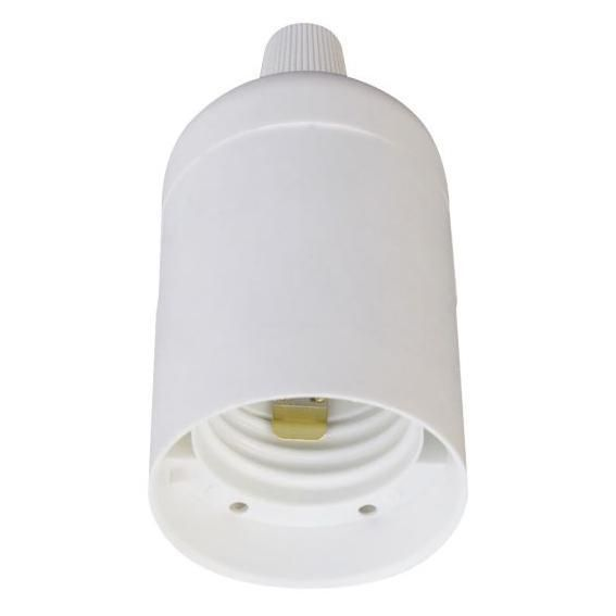 Douille plastique E27 + serre-câble - blanc