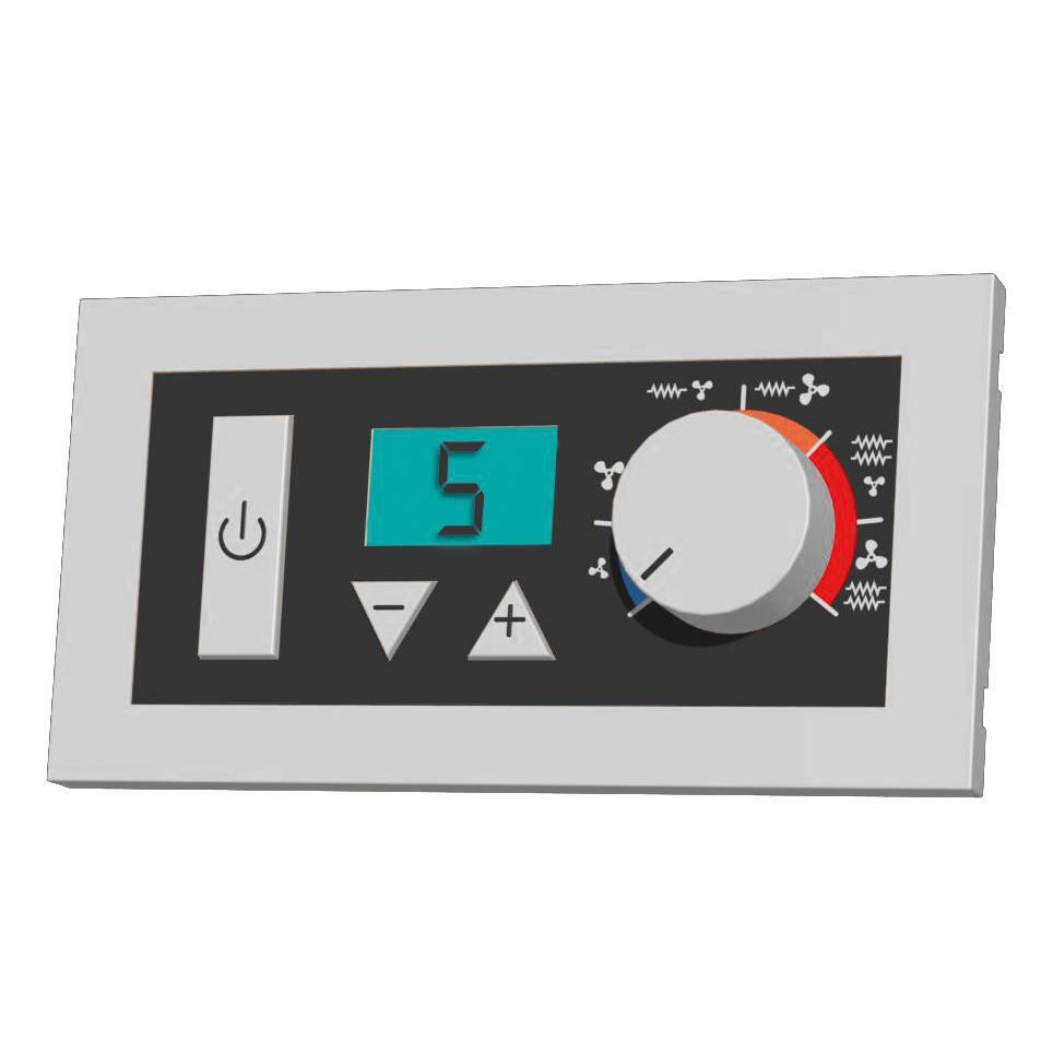 Boîtier de commande murale ou à encastrer avec thermostat AIRCOM4 réf. A691289