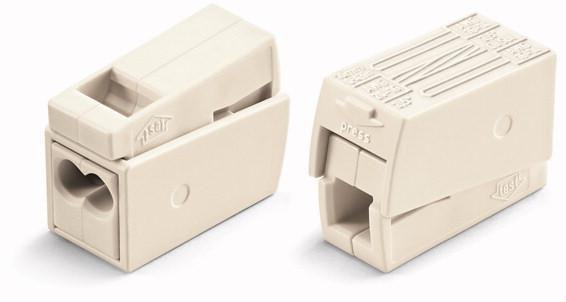 Borne WAGO pour luminaires et convecteurs 2 x 1.5 - 2.5 boîte 100 pièces réf 224-112