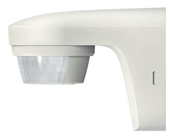 Détecteur de mouvements fixation murale blanc IP55 180 + 360 degré contact zéro crossing fonction impulsion détection transversale 12m à 2,5